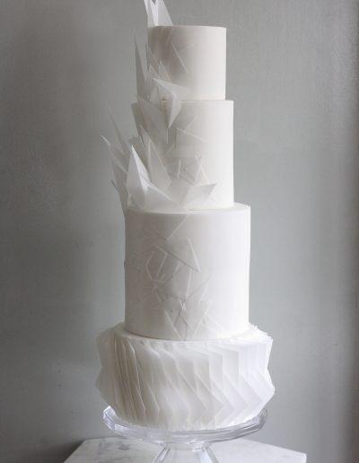 Origami wedding cake