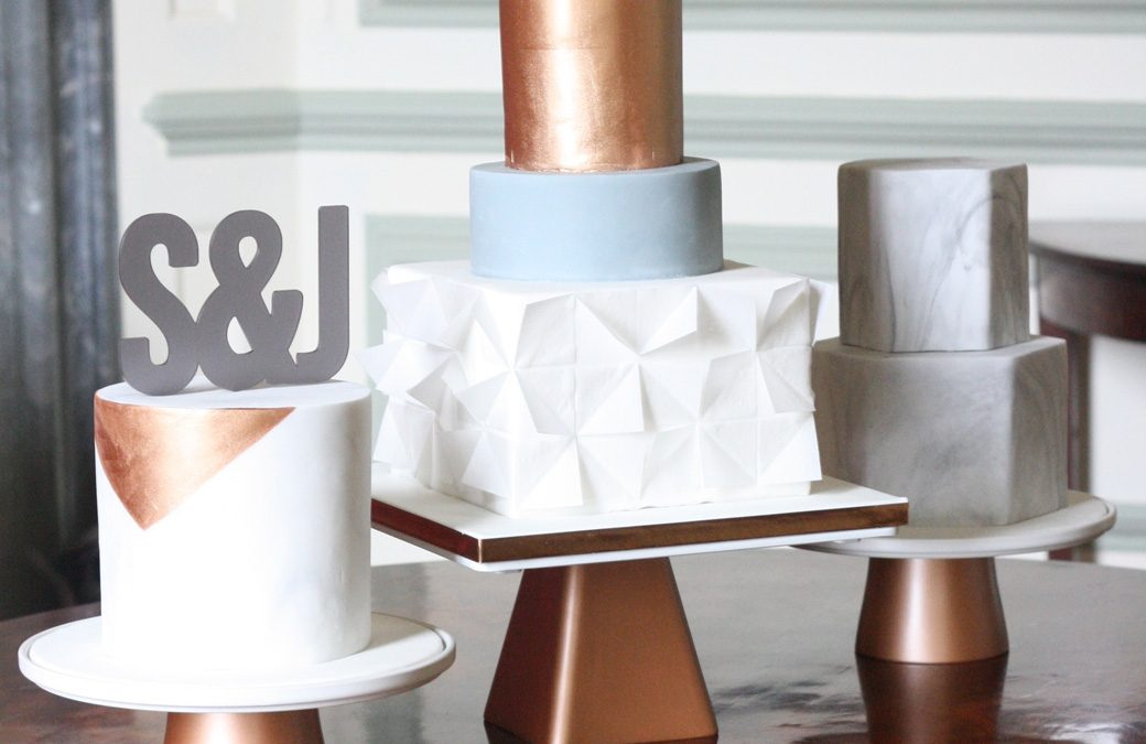 Modern Wedding Cake Set Up and Stands