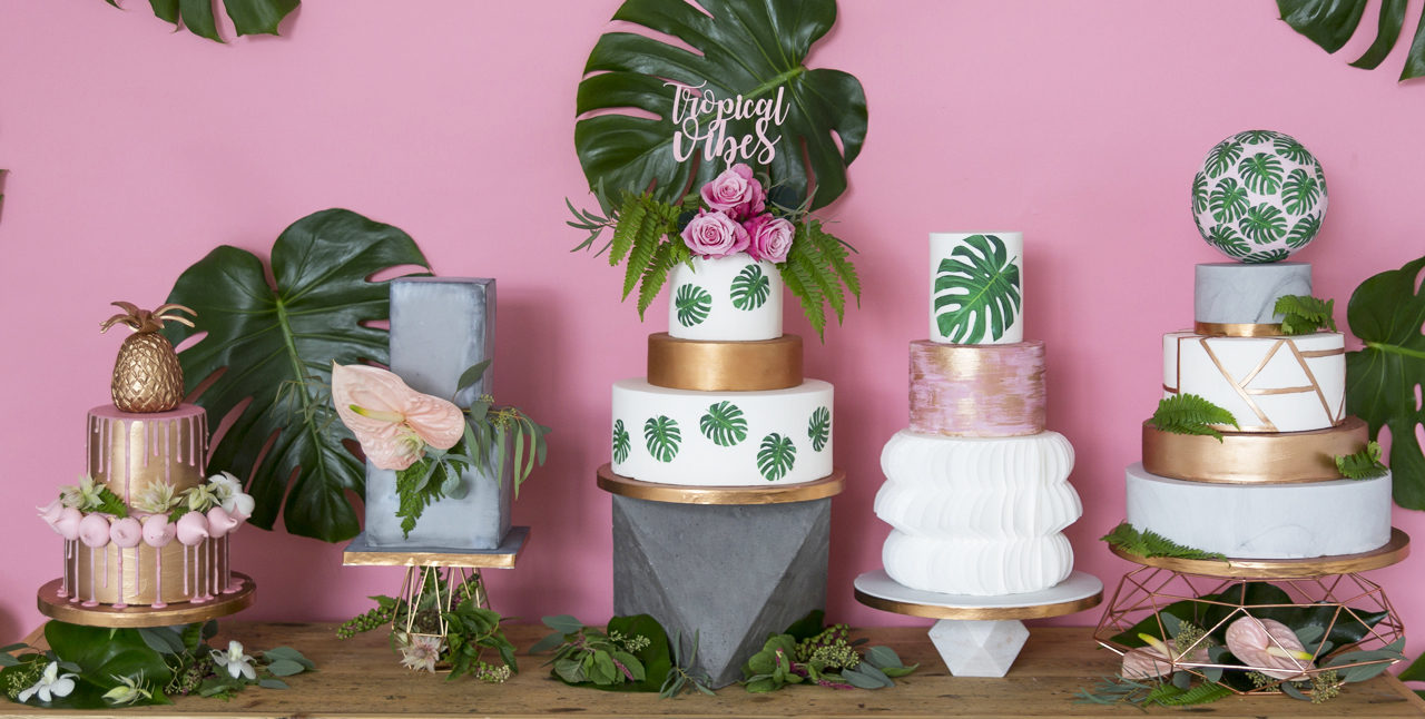 modern wedding cakes 2018 modern wedding cake trends for 2018 17480