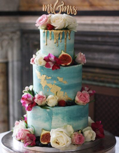 Flower watercolour cake