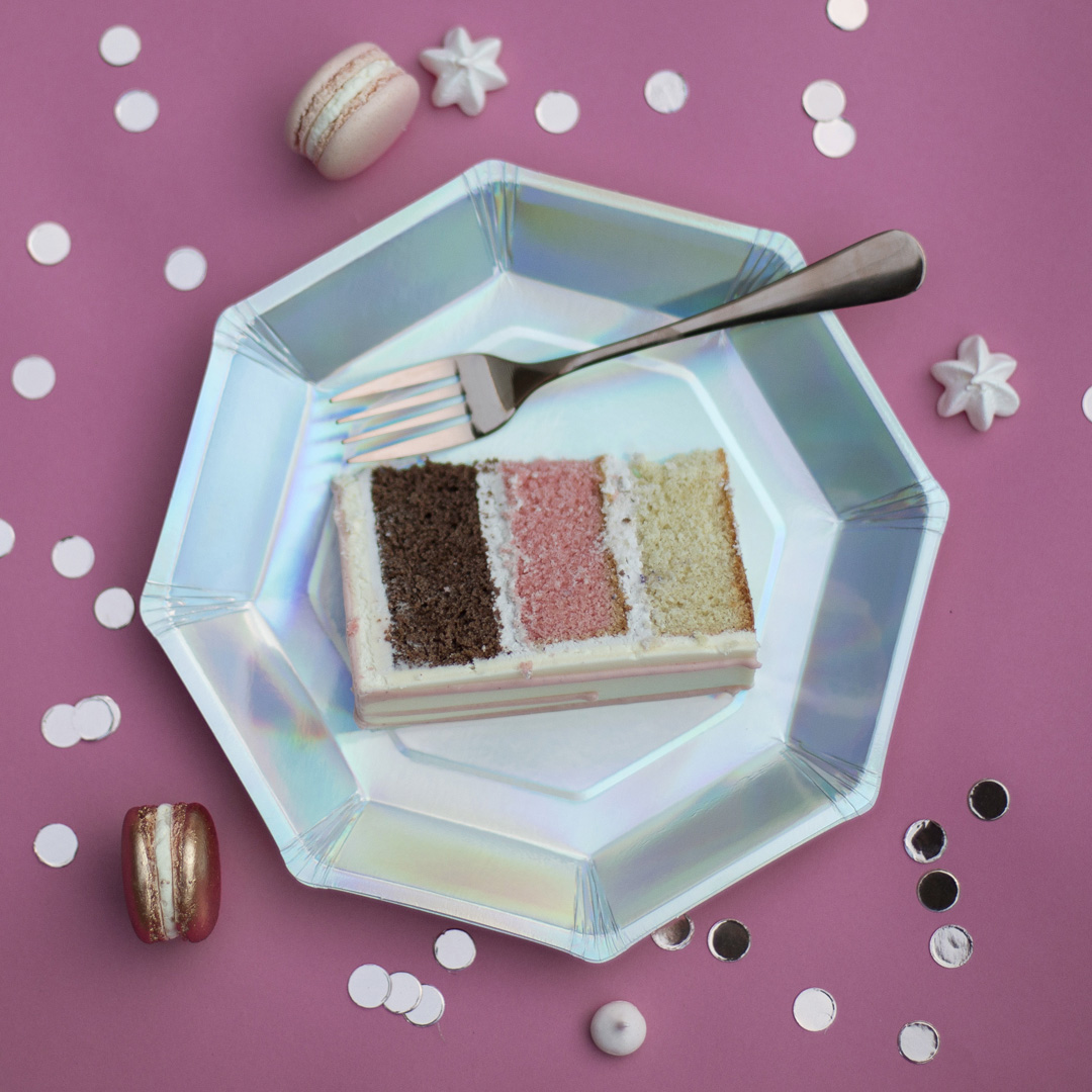 Neapolitan cake slice- Malarkey cakes best wedding cake flavours