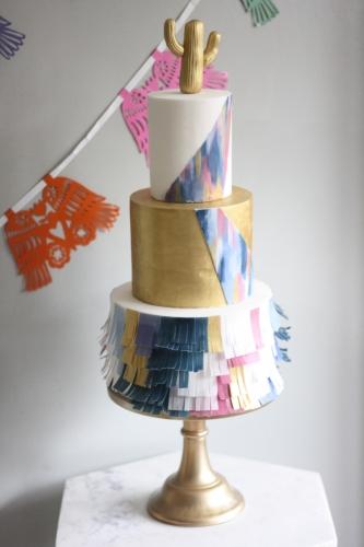 Pinata fiesta wedding cake