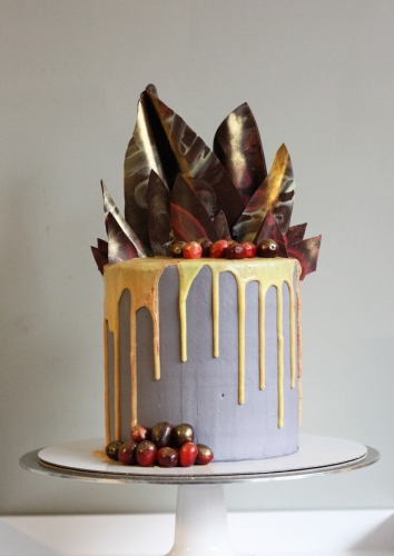 Chocolate shard cake commissioned for a London wedding cake