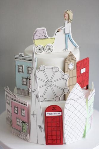London Cake illustrated
