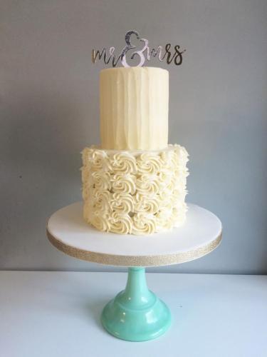 buttercream swirl wedding cake